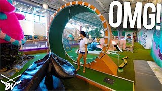 Download THE CRAZIEST MINI GOLF COURSE IN THE WORLD! - DOUBLE HOLE IN ONE AND INSANE HOLES! Video