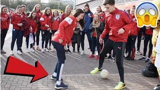 Download CAN I NUTMEG THE ENGLAND WOMENS FOOTBALL TEAM !? (CRAZY REACTIONS) Video