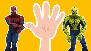 Download Spiderman Finger Family Song Nursery Rhymes Finger Family Spiderman | Spiderman Cartoon Kids Song Video