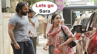 Download Saif Ali Khan With Daughter Sara Ali Khan At Kedarnath Movie Meeting In Bandra Video