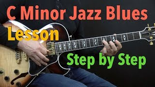 Download C Minor Jazz Blues - Easy Jazz Guitar Lesson by Achim Kohl Video