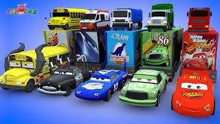 Download Learning Color Disney Pixar Cars Lightning McQueen Transforming magic Tunnel Play for kids car toys Video