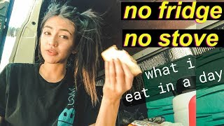 Download Van Life: What I Eat in A Day - NO FRIDGE NO STOVE | Hobo Ahle Video
