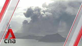 Download Timelapse: Taal volcano spews out ash and smoke Video