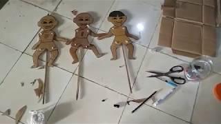 Download Upin Ipin Cara Membuat Wayang dari Kardus Bekas Karton mainan lucu Video