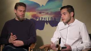 """Download Charlie Hunnam and Rami Malek Talk About """"Papillon"""" Video"""