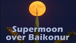 Download Supermoon over Baikonur Video