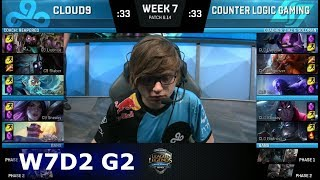 Download Cloud 9 vs CLG | Week 7 Day 2 S8 NA LCS Summer 2018 | C9 vs CLG W7D2 Video