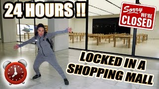 Download OVERNIGHT IN A SHOPPING MALL!! ⏰ 🔒 24 HOUR FORT CHALLENGE Video