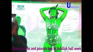 Download Ebony twerks and pounds Legon boy at Jubilish Hall Week Video