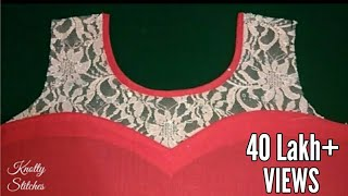 Download Transi Neck Design with round neck for Kurti/Cutting and Stitching in Hindi / Net neck Kurti Video