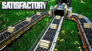 Download The Fastest Conveyor Belts in Satisfactory - Making Mk4 Conveyor Belts with Reinforced Steel Beams Video