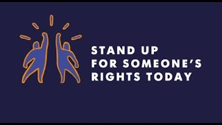 Download A global call to ″Stand up for Someone's Rights Today″ Video