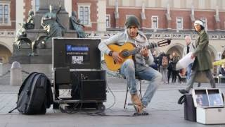 Download Amazing street guitar performance by Imad Fares ″ Gipsy Kings ″ cover Video
