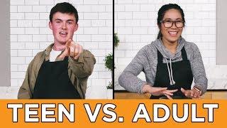 Download Teen Vs. Adult: Burger Recipe Challenge Video