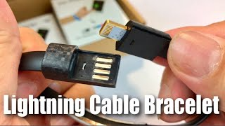 Download SHARPALIN 8in Mini Short Flat Bracelet Charging Data USB Lightning Cable review Video