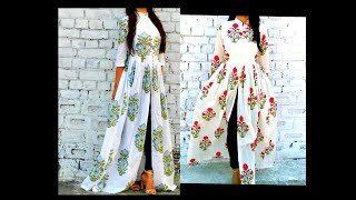 Download How to Cut & Stitch Front Slit Long Gown| Maxi Dress (Eng Subtitles)|Hindi|URDU Video