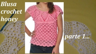 Download Blusa a crochet honey todas las tallas (parte 1) Video