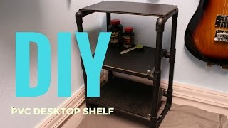 Download DIY| How To Make a Desktop Shelf From PVC Video