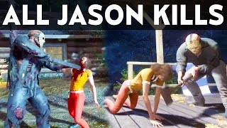 Download FRIDAY THE 13TH GAME ALL JASON VOORHEES KILLS Counselor Deaths Compilation Gameplay Video
