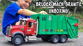 Download GARBAGE TRUCK Videos For Children l BRUDER Mack Granite UNBOXING And Review Video