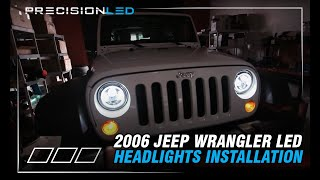 Download Jeep Wrangler LED Headlights How To Install - 2006-Present Video