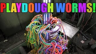 Download Making Giant Playdough Worms with Hydraulic Press | ODLY SATISFYING! Video