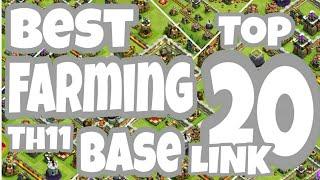 Download Top 20 Best Th11 Farming Base 2018   Farming Base CoC Video