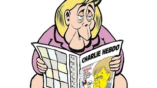 Download Charlie Hebdo's first German edition? Merkel on the toilet Video
