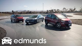 Download Electric Trio: The Chevrolet Bolt, Nissan Leaf and Tesla Model 3 Square Off | Edmunds Video
