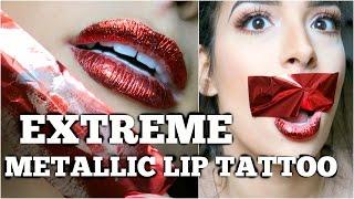 Download EXTREME METALLIC LIP TATTOO - LIVE TEST! Lamiya Slimani Video