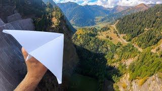 Download Throwing PAPER AIRPLANES from 165m Dam! Video
