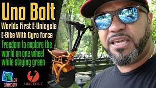 Download Uno Bolt: World's First E-Unicycle / E-Bike With Gyro Force 🚳 : LGTV Review Video