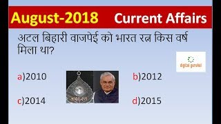 Download August 2018 Current Affairs | Daily Current Affairs | Current Affairs In Hindi Video