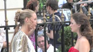Download Leighton Meester and Blake Lively on the set of Gossip Girl in Paris at Avenue Montaigne Video