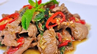 Download Stir Fried Beef with Holy Basil (Thai Food) - ผัดกะเพราเนื้อ Video