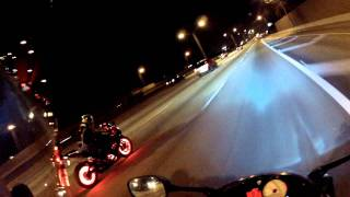 Download Bike Night at Hooters S.Florida and a GSXR with beautiful LED's setup Video