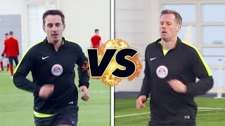 Download Neville v Carragher in the Referee Fitness Test! | The Referees Part 1 Video