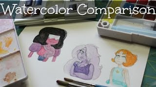 Download Watercolor Comparison | Sakura Koi, Reeves, and W&N Cotman Video