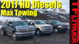 Download 2017 Chevy HD vs Ford Super Duty vs Ram HD Ike Gauntlet Review: World's Toughest Towing Test Video