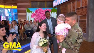 Download Deployed dad meets his baby daughter for the 1st time on 'GMA' l GMA Video