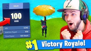 Download 100 WIN *SECRET* UNLOCK in Fortnite: Battle Royale? (KILL RECORD) Video