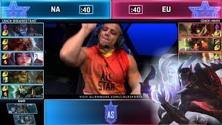 Download NA vs EU - Show Match (ft. Tyler1, Yassuo) | Day 1 2019 LoL All Star Event Video