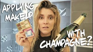 Download APPLYING MAKEUP WITH A CHAMPAGNE BOTTLE // Grace Helbig Video