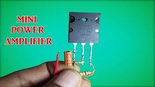 Download Mini power audio amplifier circuit using transistor Video
