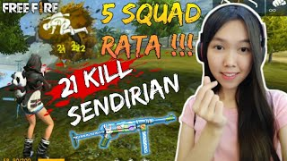 Download 21 KILL SOLO VS SQUAD & PENGUMUMAN GIVEAWAY - FREE FIRE INDONESIA Video