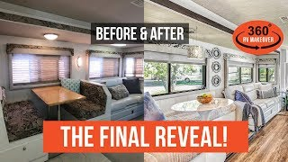 Download THE FINAL REVEAL: Before & After RV Renovation   RVLOVE's Ultimate RV Makeover (Ep 8)   DIY Remodel Video