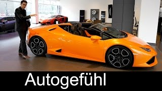 Download New Lamborghini Huracán Spyder LP 610-4 Premiere REVIEW & comparison Gallardo & Aventador Spyder Video