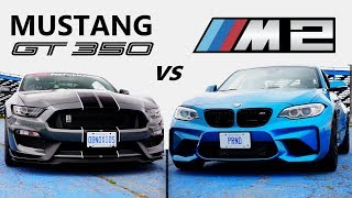 Download Ford Mustang Shelby GT350 VS BMW M2 -TRACK REVIEW // One Track Mind Ep. 4 Video