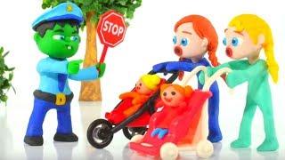 Download HULK POLICE STOPS FROZEN ELSA & ANNA ❤ Spiderman, Hulk & Frozen Elsa Play Doh Cartoons For Kids Video